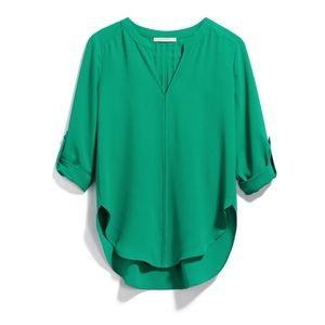 Green Blouse 41 Hawthorn High-Low